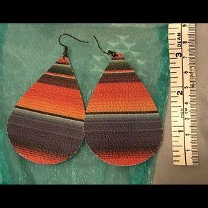 Jewelry - Zarape Leather Earrings